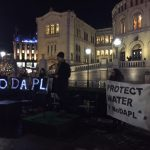 Pipeline protests reach Parliament