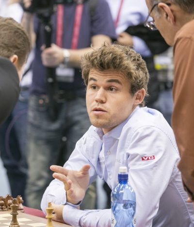 Norwegian chess star Magnus Carlsen ended up having a disappointing week in Qatar, after losing both the rapid and blitz chess championships. PHOTO: FIDE Doha Chess 2016/Maria Emelianova