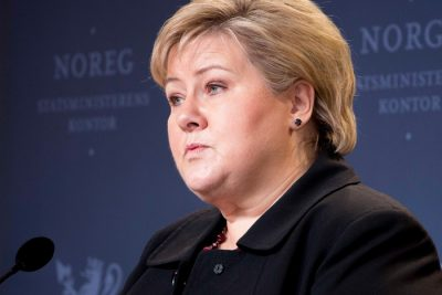 """Prime Minister Erna Solberg has insisted that her government's cooperation agreement with the Liberals and Christian Democracts was still in force. She called the budget situation """"demanding"""" but claimed the parties would keep working """"so the country can have a budget."""" PHOTO: Høyre/Henrik Dale"""