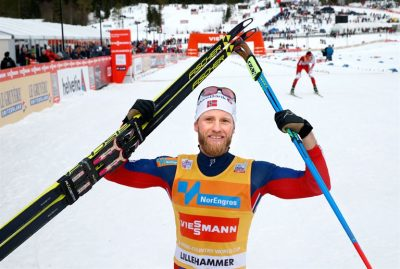 Martin Johnsrud Sundby also won in the World Cup at Lillehammer, before this weekend's important and symbolic victory in Davos. Both confirm the comeback for the skier caught in a doping case for the past two years. PHOTO: Norges Skiforbundet/Scanpix