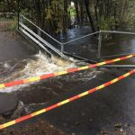 Flooding inundated Southern Norway