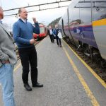 Transport minister meets 'train wreck'