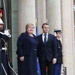 Macron welcomed Solberg in Paris