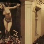 Street artist paints Listhaug as martyr
