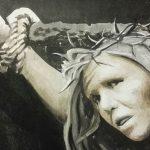 Listhaug crucifixion painting resurrected