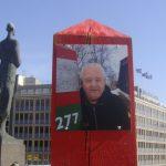Artist protests on behalf of jailed spy