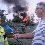 Lightning sets off 100 forest fires