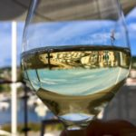 White wine flowed in the summer heat