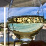 White wine flowed in the summer heat