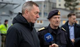 Defense officials shield frigate's crew