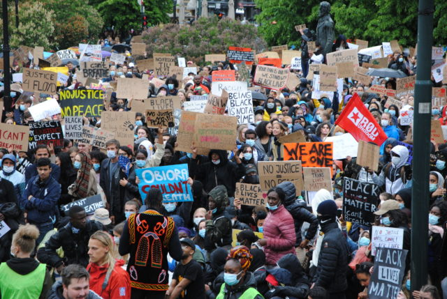 Thousands protest racism, brutality